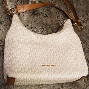 White Michael Kors purse